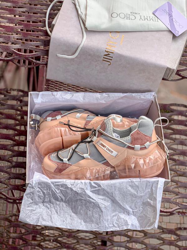 Шикарные женские кроссовки jimmy choo - Фото 6