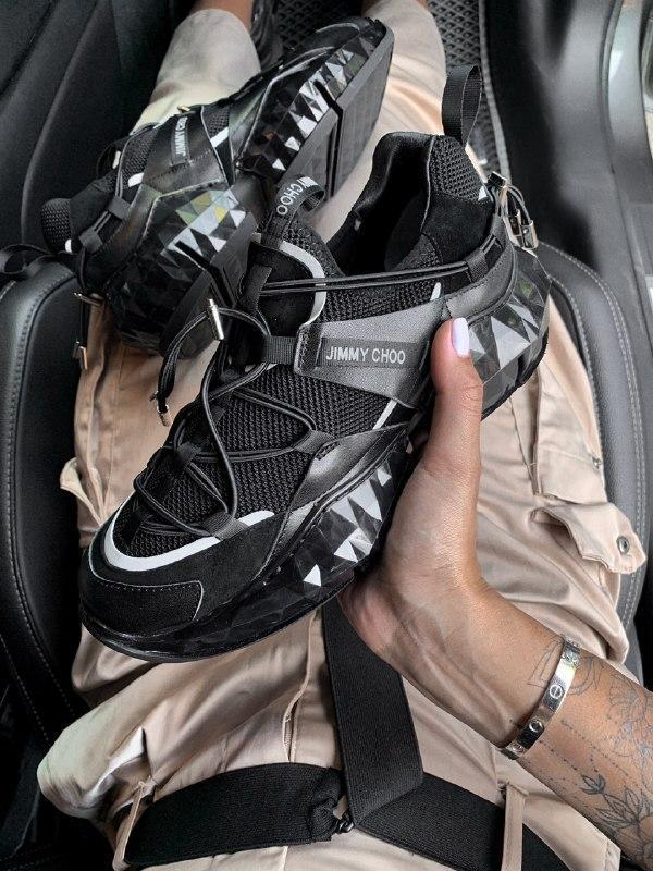 Шикарные женские кроссовки jimmy choo - Фото 2