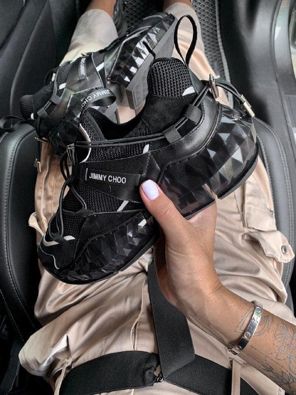 Шикарные женские кроссовки jimmy choo - Фото 3