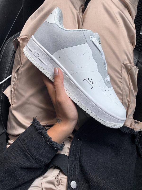 Шикарные  кроссовки nike air force 1 white