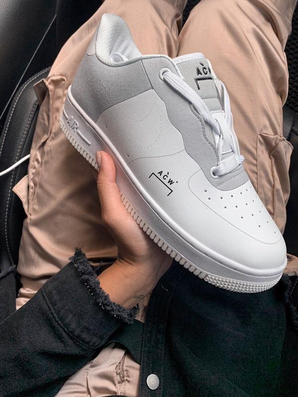Шикарные  кроссовки nike air force 1 white - Фото 2