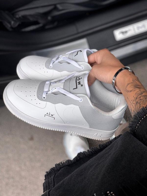Шикарные  кроссовки nike air force 1 white - Фото 3
