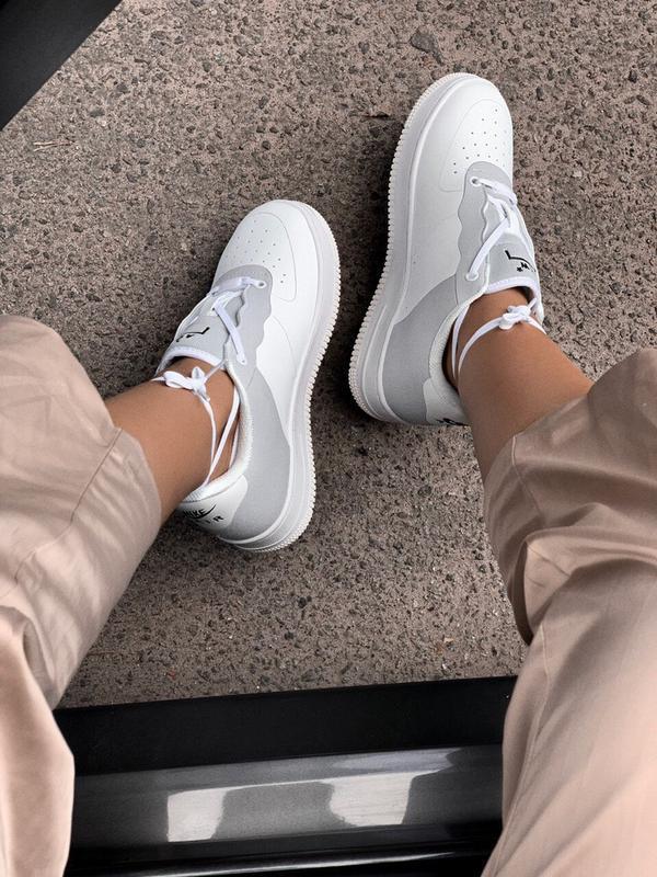 Шикарные  кроссовки nike air force 1 white - Фото 5