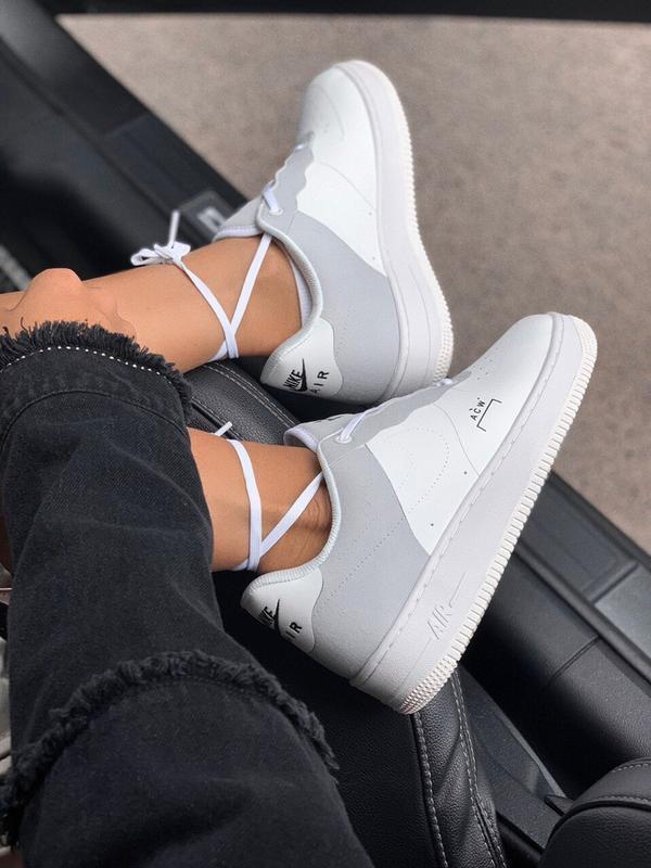 Шикарные  кроссовки nike air force 1 white - Фото 6