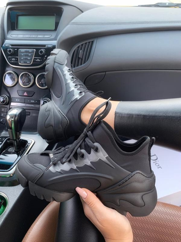 Шикарные женские кроссовки dior d-connect black