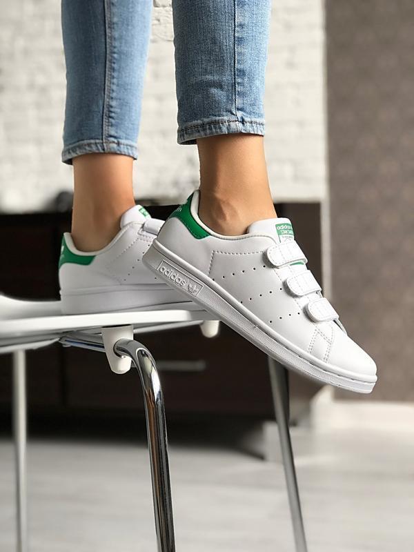 Шикарные женские кроссовки adidas stan smith