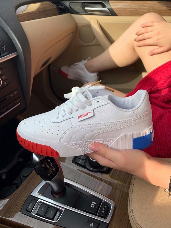 Шикарные женские кроссовки puma basket cali