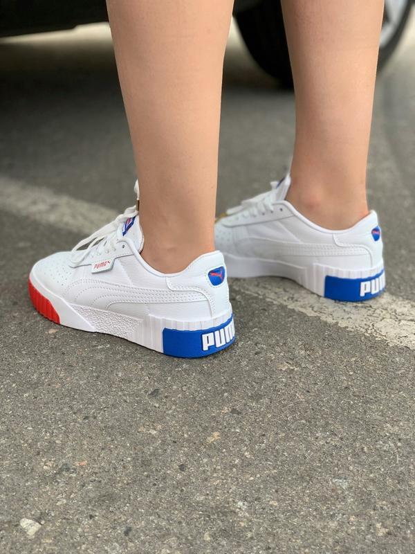 Шикарные женские кроссовки puma basket cali - Фото 5