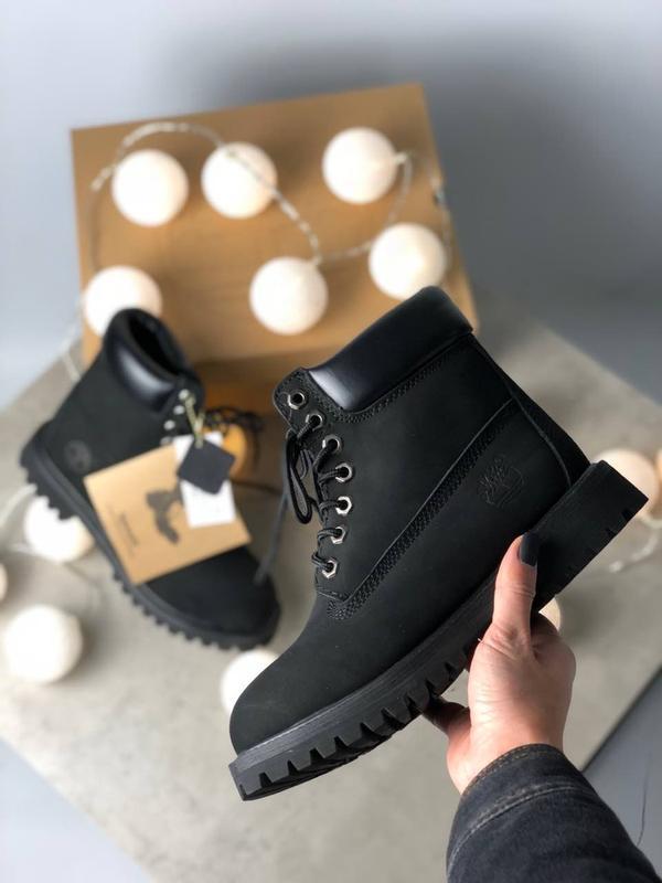 Шикарные женские ботинки timberland black