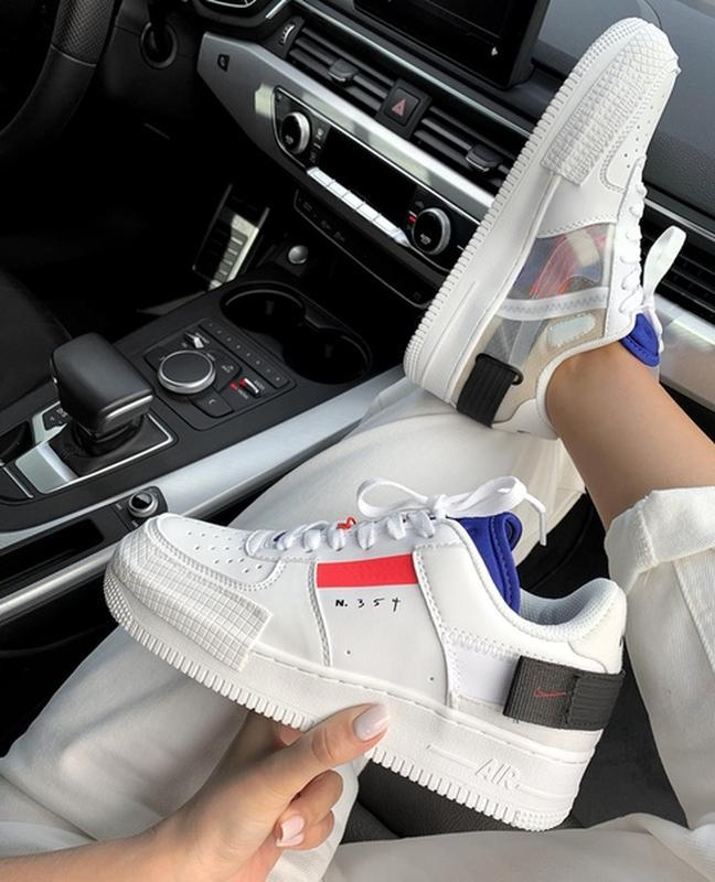 Шикарные женские кроссовки nike air force 1 type white