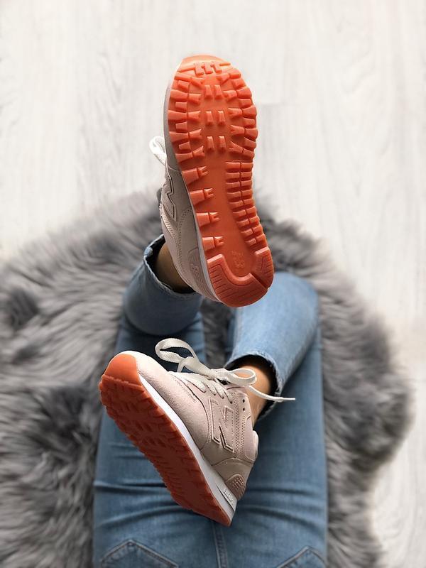 Шикарные женские кроссовки new balance 574 pink - Фото 7
