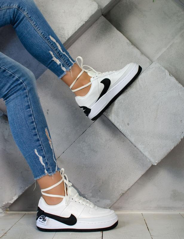 Шикарные женские кроссовки nike air force jester white/black