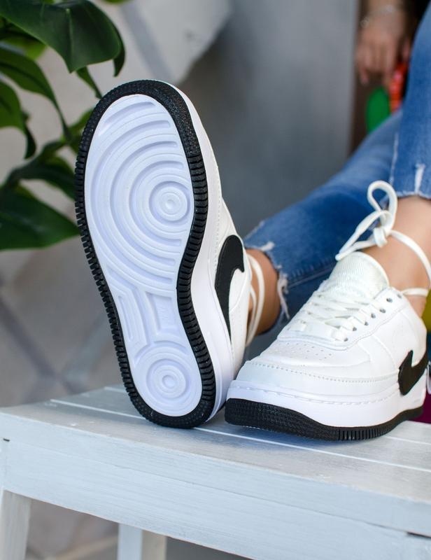 Шикарные женские кроссовки nike air force jester white/black - Фото 6