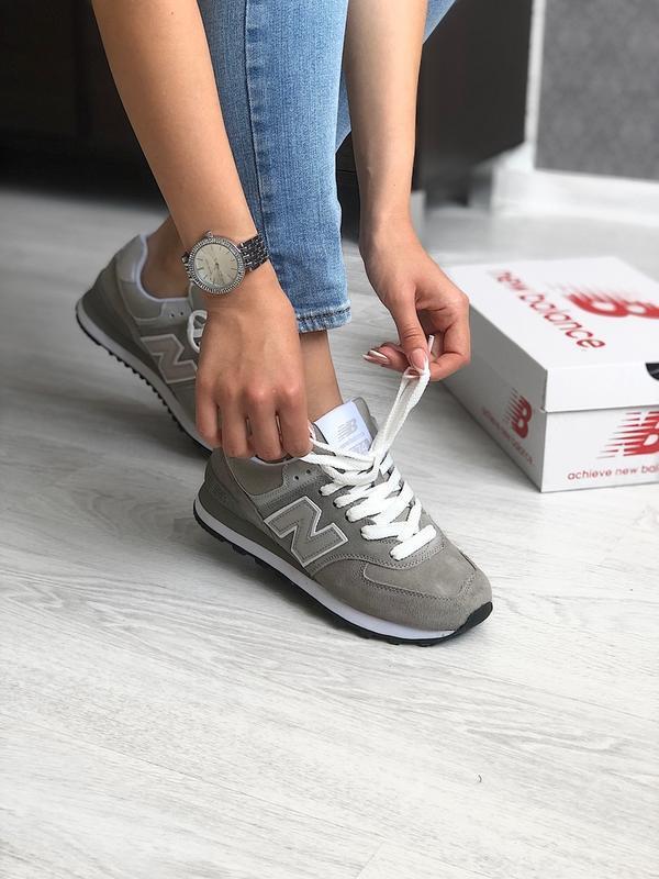 Шикарные женские кроссовки new balance 574 grey