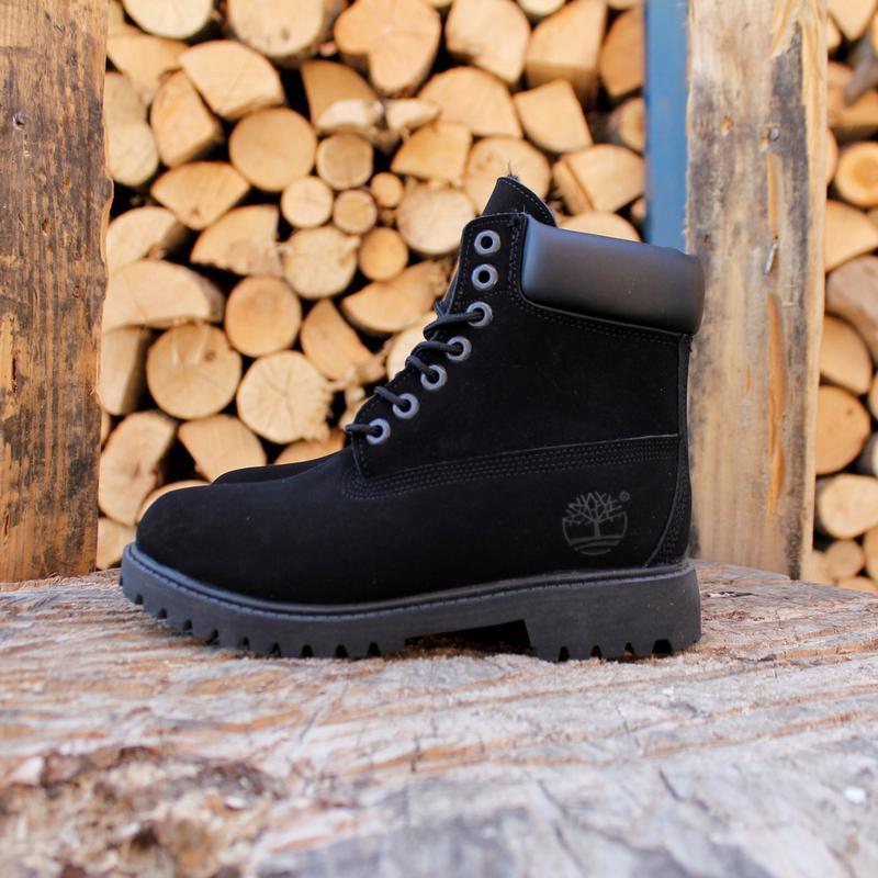 Шикарные  женские зимние ботинки  timberland black