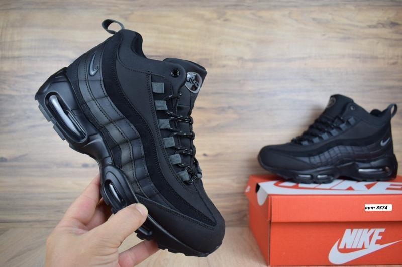 Шикарные мужские зимние кроссовки nike air max  sneakerboot 95 - Фото 2