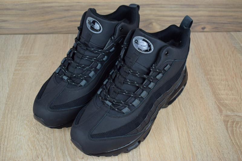 Шикарные мужские зимние кроссовки nike air max  sneakerboot 95 - Фото 3