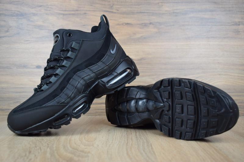Шикарные мужские зимние кроссовки nike air max  sneakerboot 95 - Фото 4