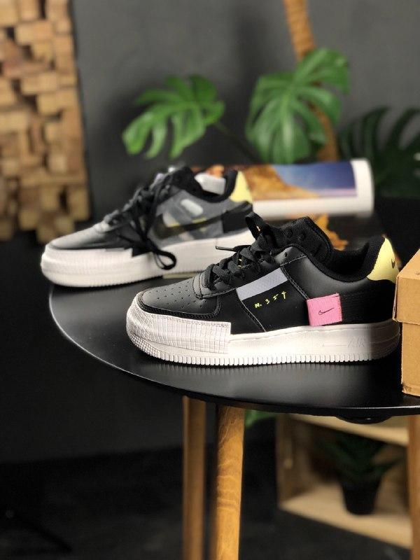Шикарные женские кроссовки  nike air force 1 type black white