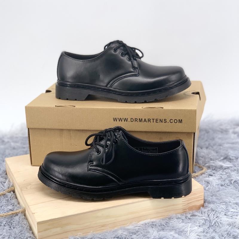 Шикарные женские туфли dr.martens 1461mono black - Фото 2
