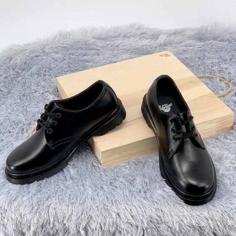 Шикарные женские туфли dr.martens 1461mono black - Фото 3