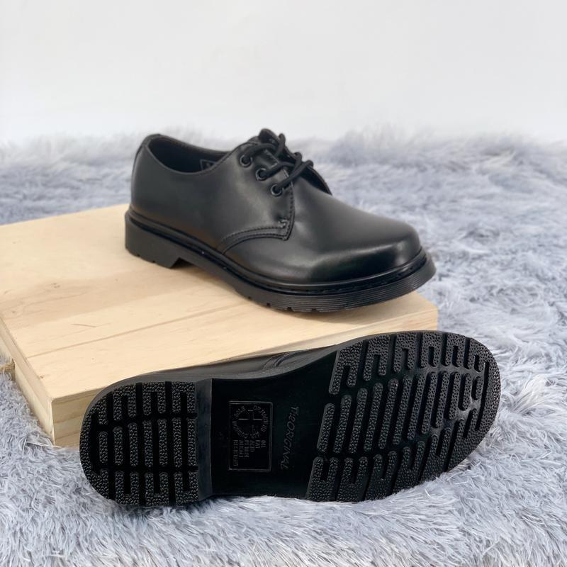 Шикарные женские туфли dr.martens 1461mono black - Фото 5