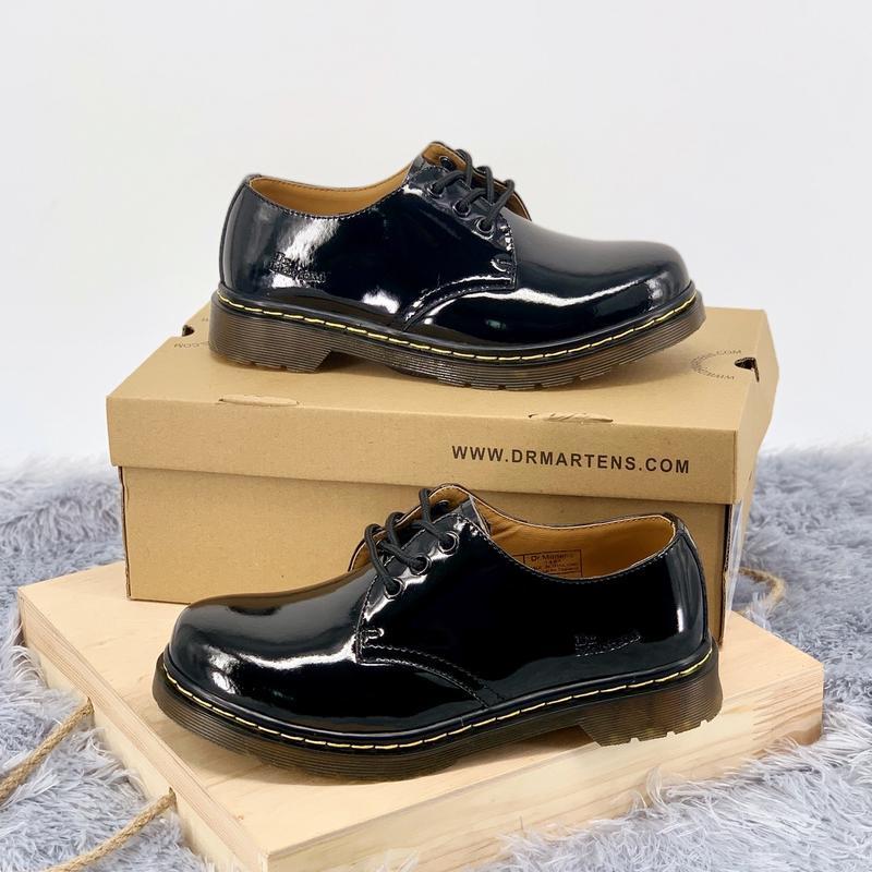 Шикарные женские туфли dr.martens 1461 black