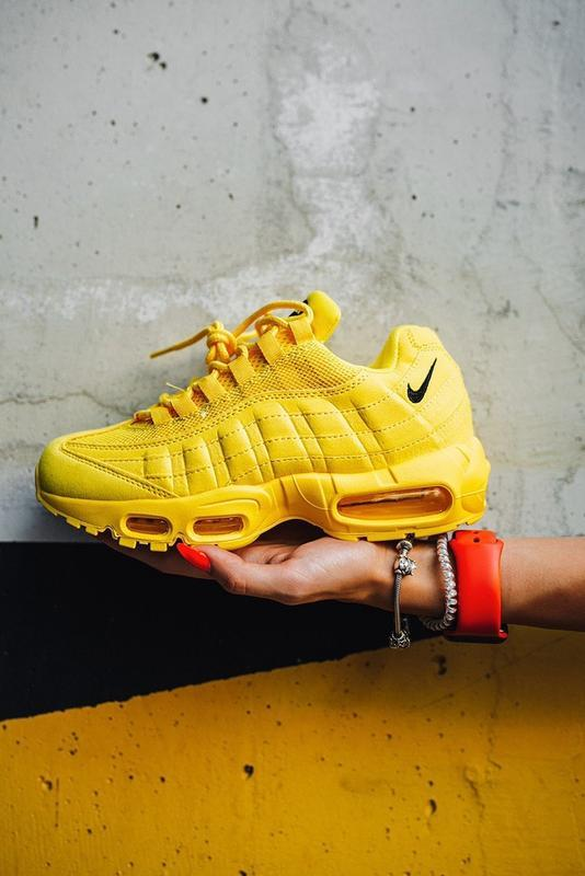 """Шикарные женские кроссовки nike air max 95 """"yellow"""" - Фото 3"""