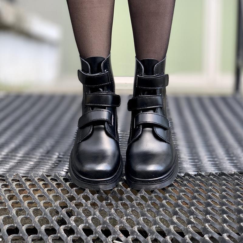 Шикарные женские ботинки dr.martens на липучках