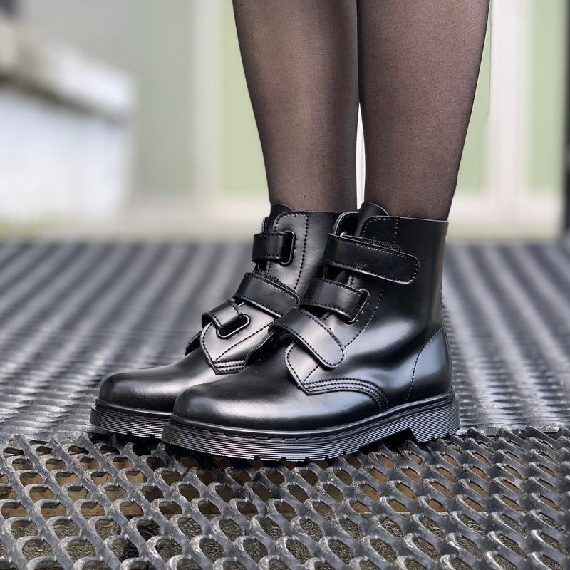 Шикарные женские ботинки dr.martens на липучках - Фото 2