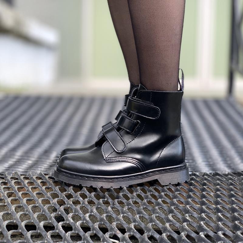 Шикарные женские ботинки dr.martens на липучках - Фото 3