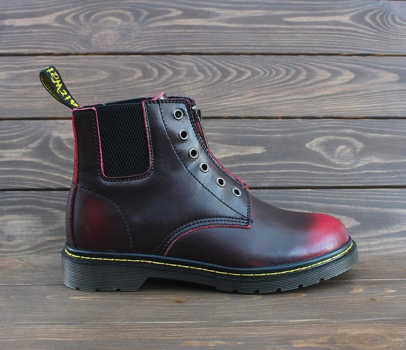 Шикарные женские ботинки dr.martens1460 на молнии - Фото 2