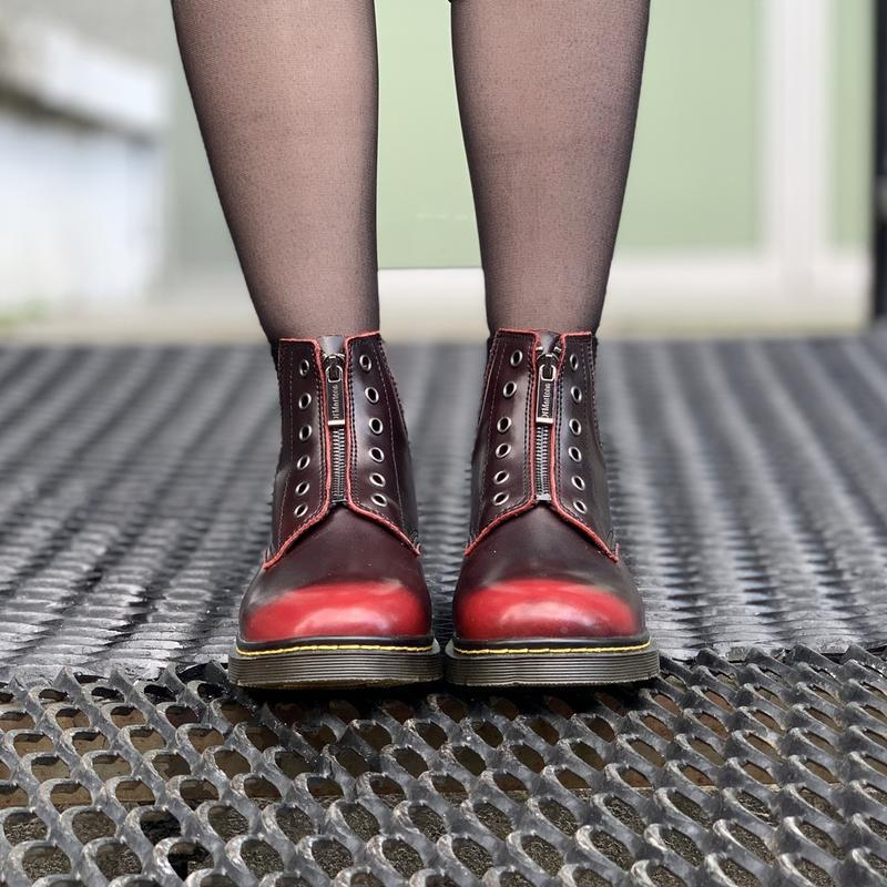 Шикарные женские ботинки dr.martens1460 на молнии - Фото 3