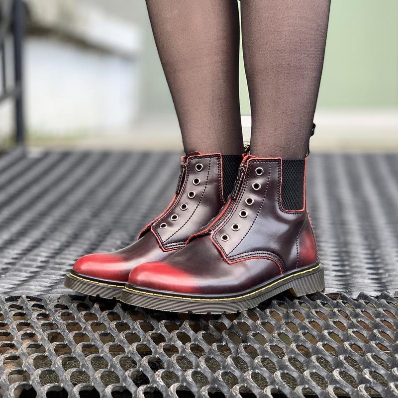 Шикарные женские ботинки dr.martens1460 на молнии - Фото 4