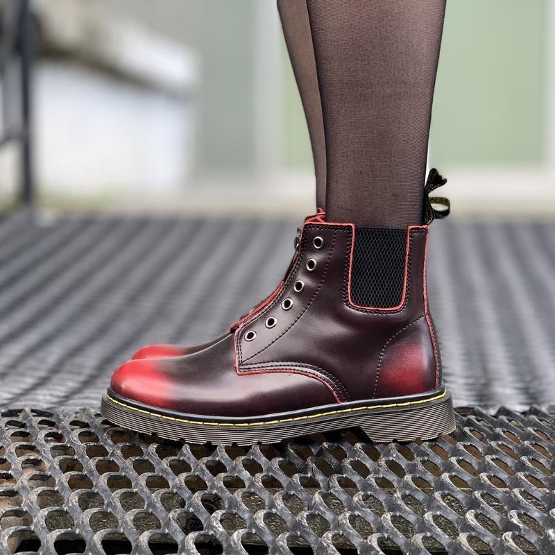 Шикарные женские ботинки dr.martens1460 на молнии - Фото 5