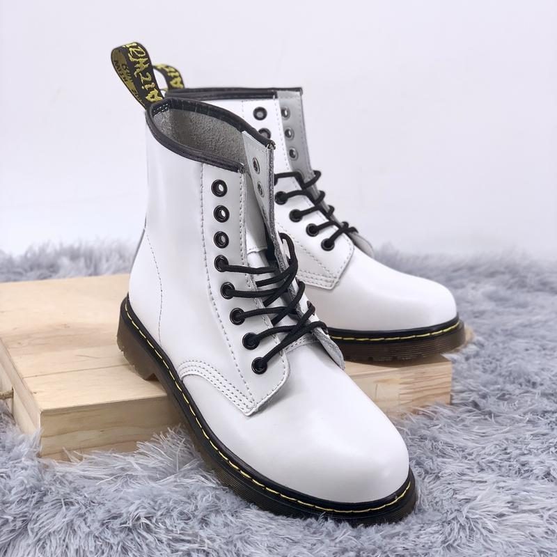 Шикарные женские ботинки dr.martens 1460 white