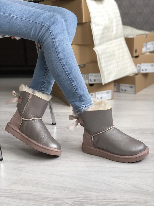 Шикарные женские зимние сапоги-ботинки ugg boots australia sil...