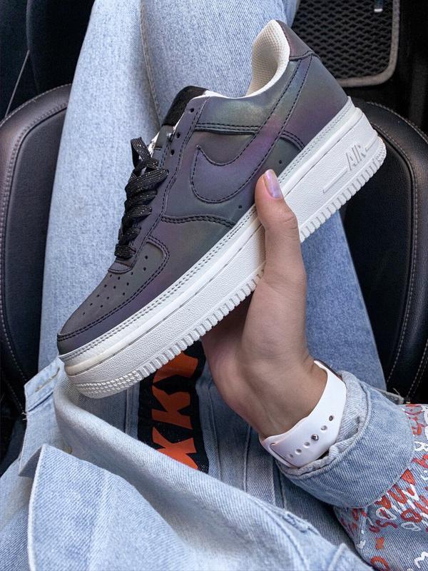 Шикарные женские кроссовки nike air force reflective low