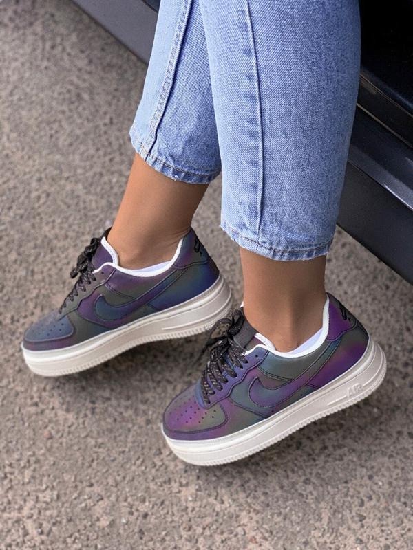 Шикарные женские кроссовки nike air force reflective low - Фото 4