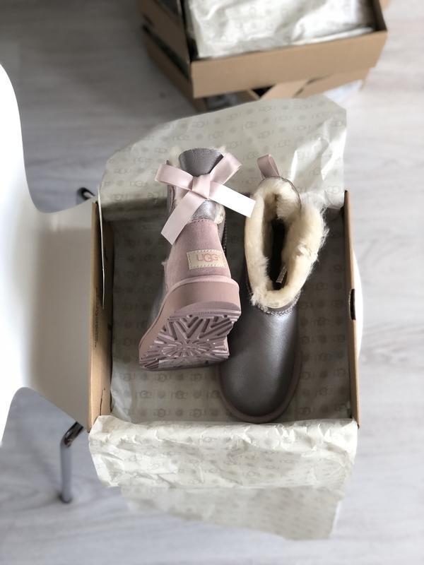 Шикарные женские зимние сапоги-ботинки ugg boots australia sil... - Фото 6