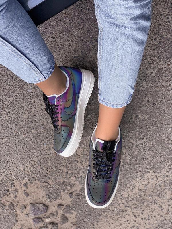 Шикарные женские кроссовки nike air force reflective low - Фото 5
