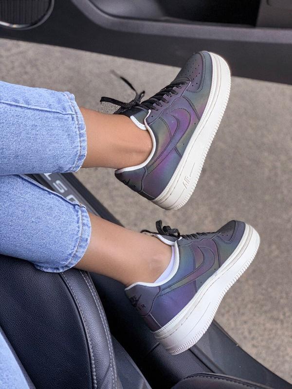 Шикарные женские кроссовки nike air force reflective low - Фото 6