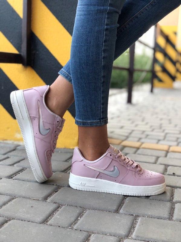 Шикарные женские кроссовки nike air force pink - Фото 2