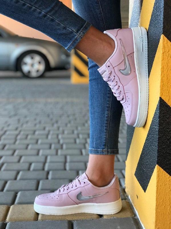 Шикарные женские кроссовки nike air force pink - Фото 3