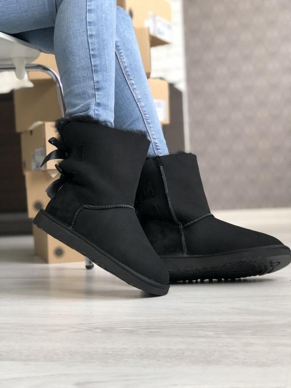 Шикарные женские зимние сапоги-ботинки ugg boots australia black
