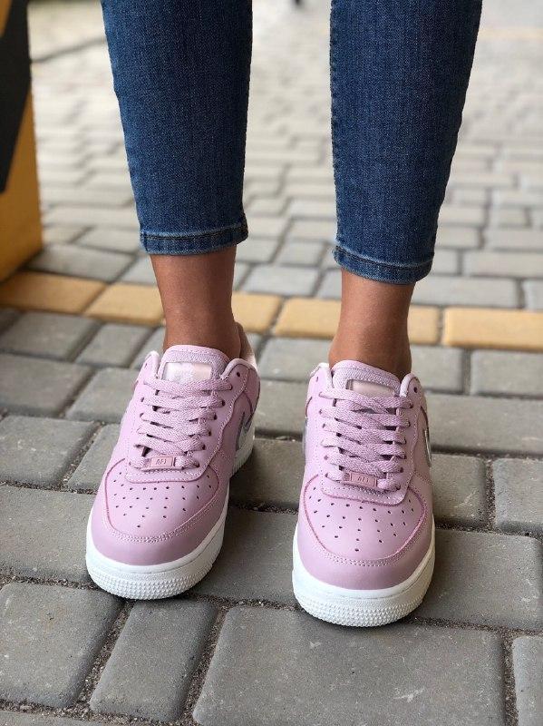 Шикарные женские кроссовки nike air force pink - Фото 4