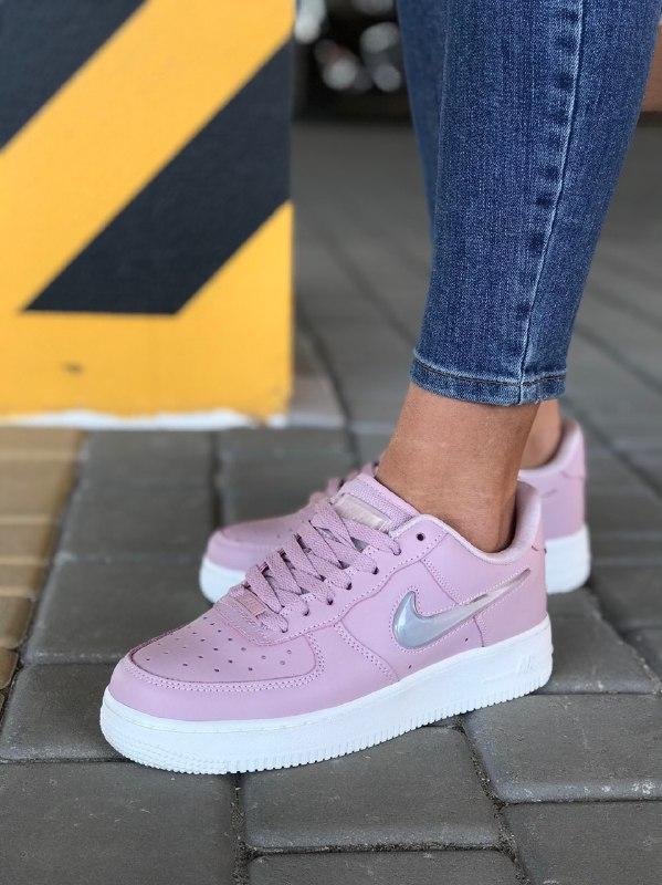 Шикарные женские кроссовки nike air force pink - Фото 5