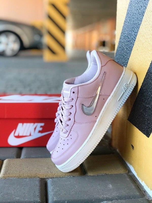 Шикарные женские кроссовки nike air force pink - Фото 6