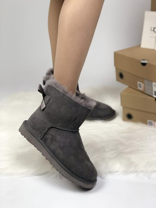 Шикарные женские зимние сапоги ботинки ugg boots australia grey