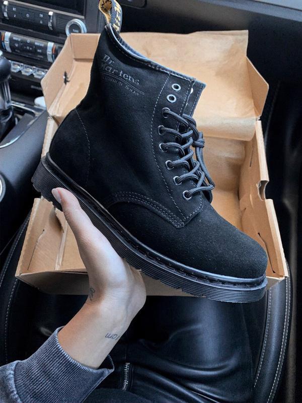 Шикарные женские осенние ботинки  dr. martens 1460 black suede...